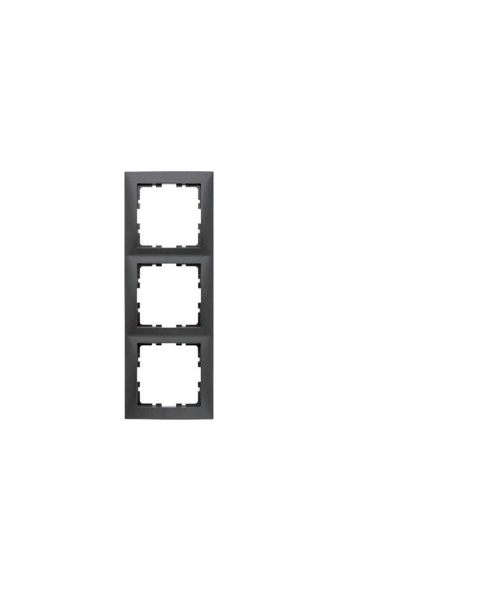Ramka B.Kwadrat 3-krotna antracyt, mat 5310138996