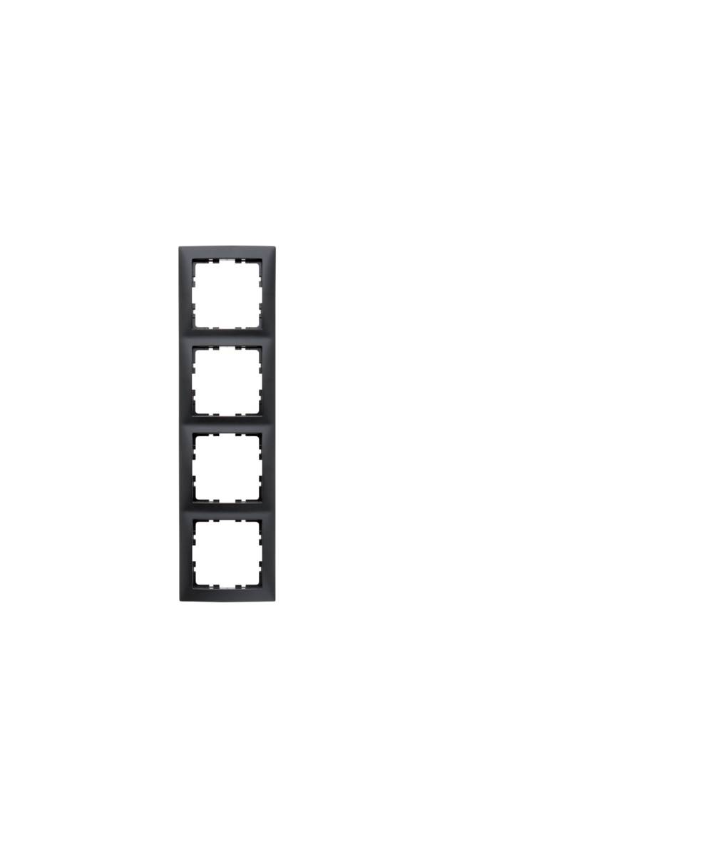 Ramka B.Kwadrat 4-krotna antracyt, mat 5310148996