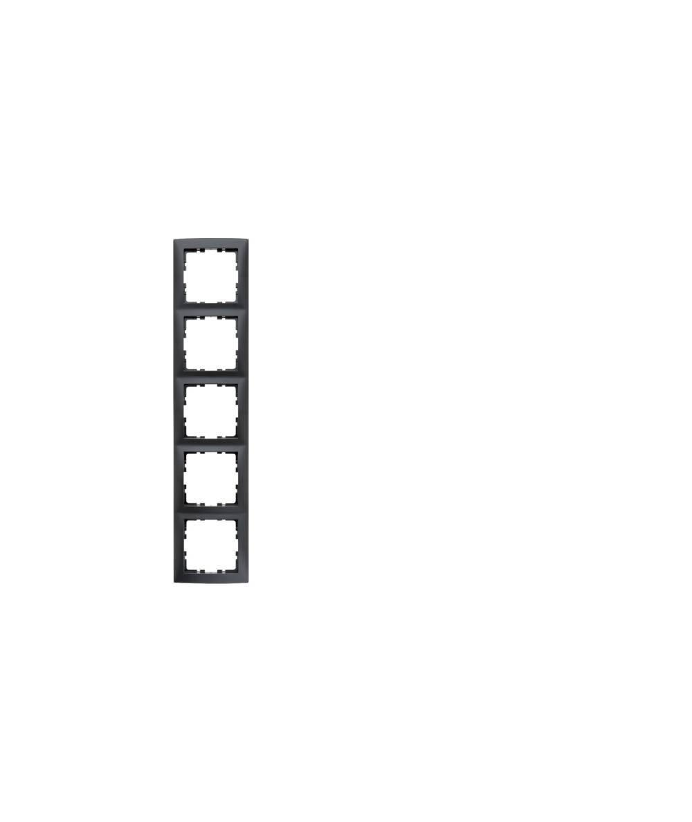 Ramka B.Kwadrat 5-krotna antracyt, mat  5310158996