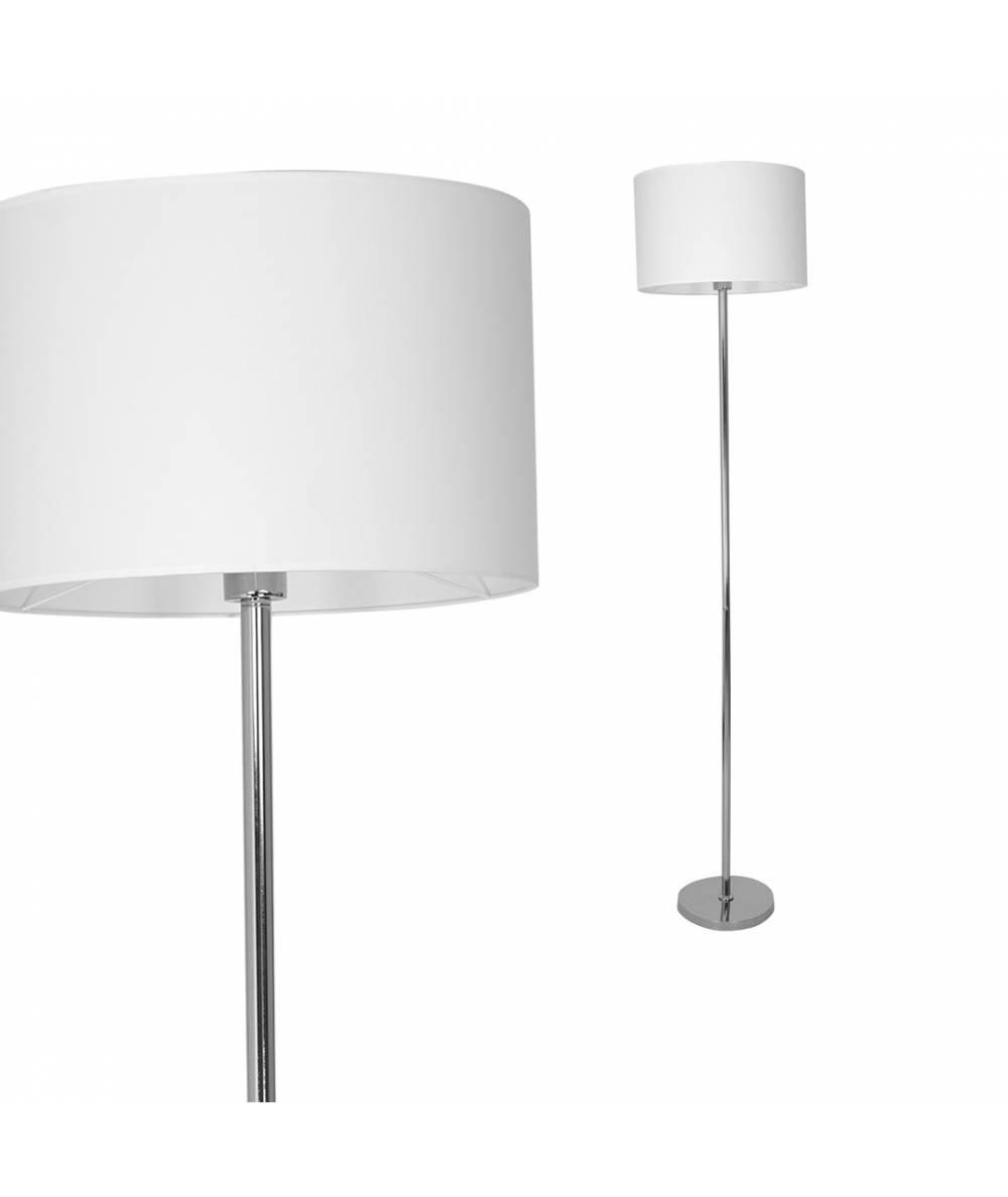 Lampa stojca CASINO WHITE/CHROME 1xE27