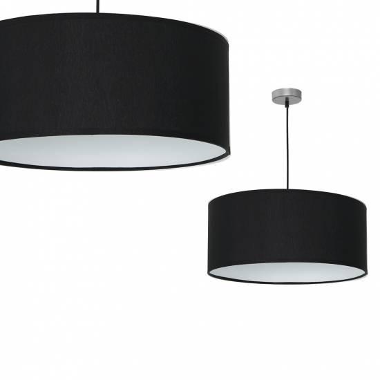 Lampa wiszca CASINO BLACK/CHROME 1xE27
