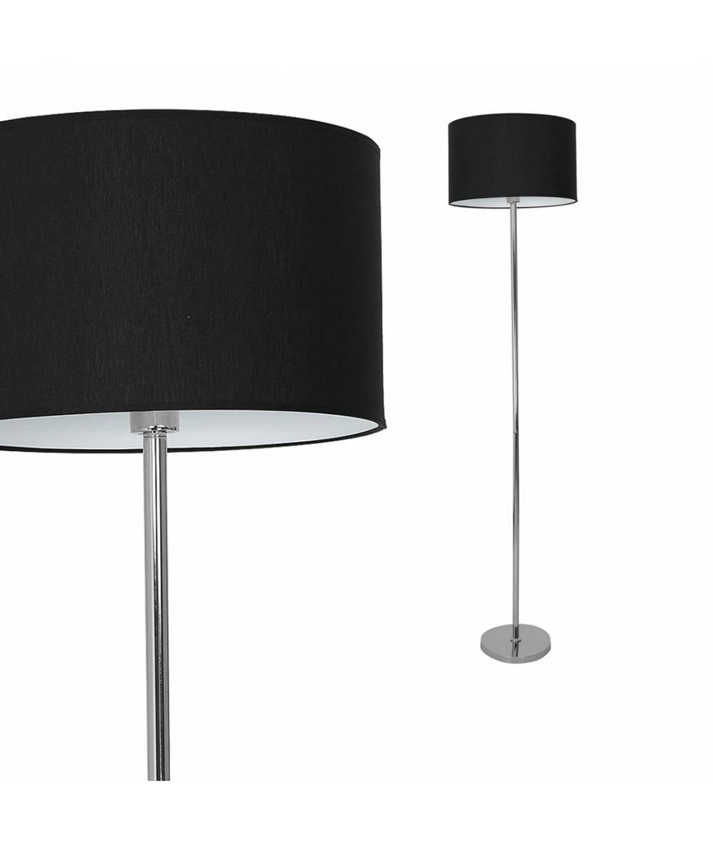 Lampa stojca CASINO BLACK/CHROME 1xE27