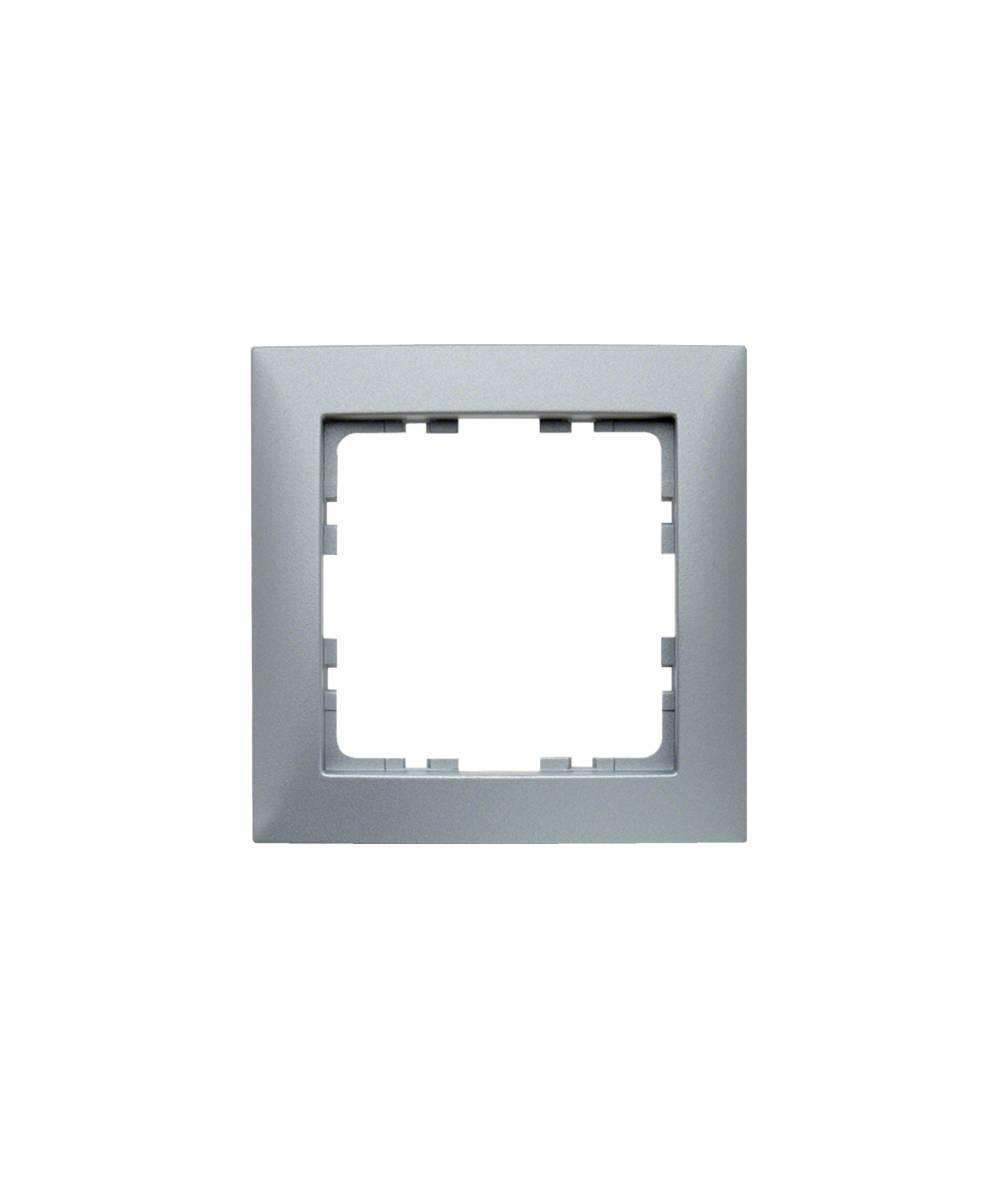 Ramka B.Kwadrat 1-krotna aluminium mat, lakierowane  5310118994