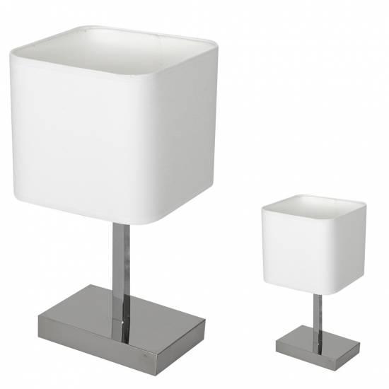Lampka stoowa NAPOLI WHITE/CHROME 1xE27