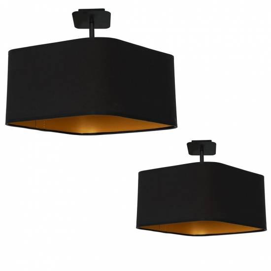 Lampa podsufitowa NAPOLI BLACK/GOLD 1xE27