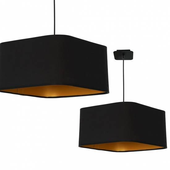 Lampa wiszca NAPOLI BLACK/GOLD 1xE27