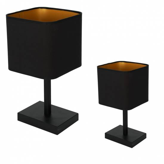 Lampka stoowa NAPOLI BLACK/GOLD 1xE27