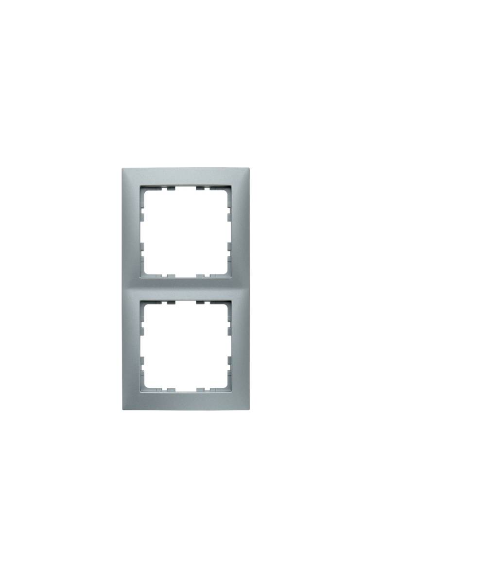 Ramka B.Kwadrat 2-krotna aluminium mat, lakierowane  5310128994