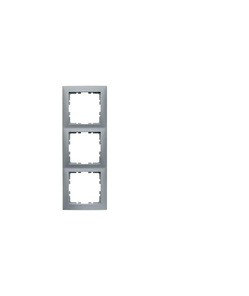 Ramka B.Kwadrat 3-krotna aluminium ma, lakierowane  5310138994