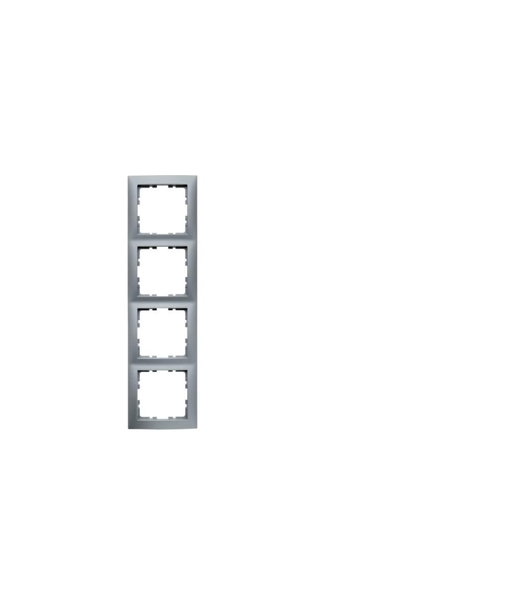 Ramka B.Kwadrat 4-krotna aluminium mat, lakierowane  5310148994