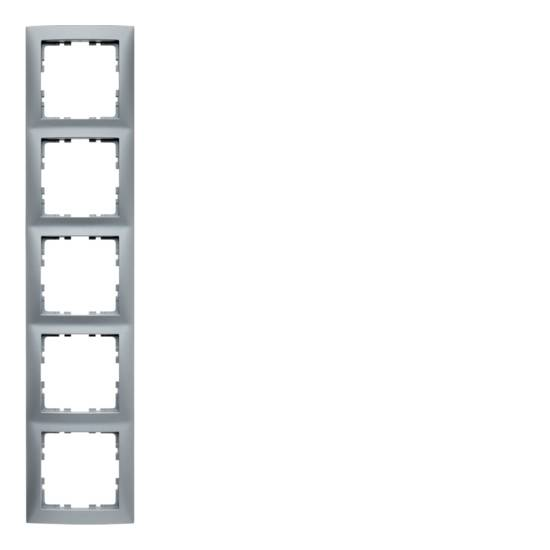 Ramka B.Kwadrat 5-krotna aluminium mat, lakierowane  5310158994