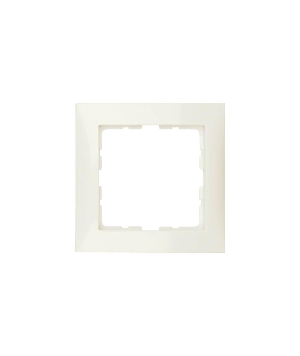 Ramka B.Kwadrat 1-krotna kremowy połysk 5310118982
