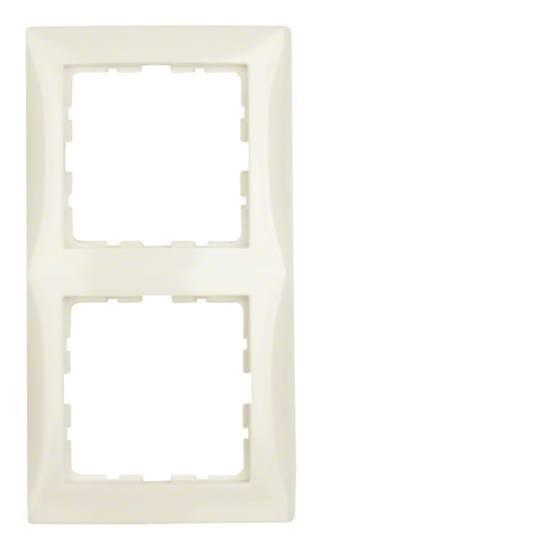 Ramka B.Kwadrat 2-krotna kremowy połysk  5310128982