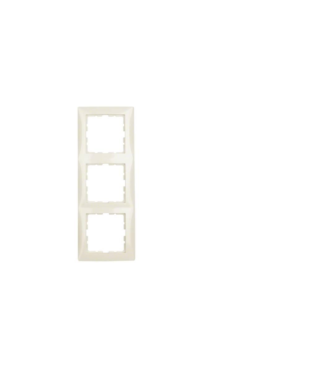 Ramka B.Kwadrat 3-krotna kremowy połysk 5310138982
