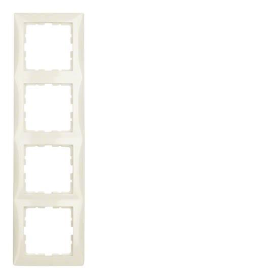 Ramka B.Kwadrat 4-krotna kremowy połysk 5310148982