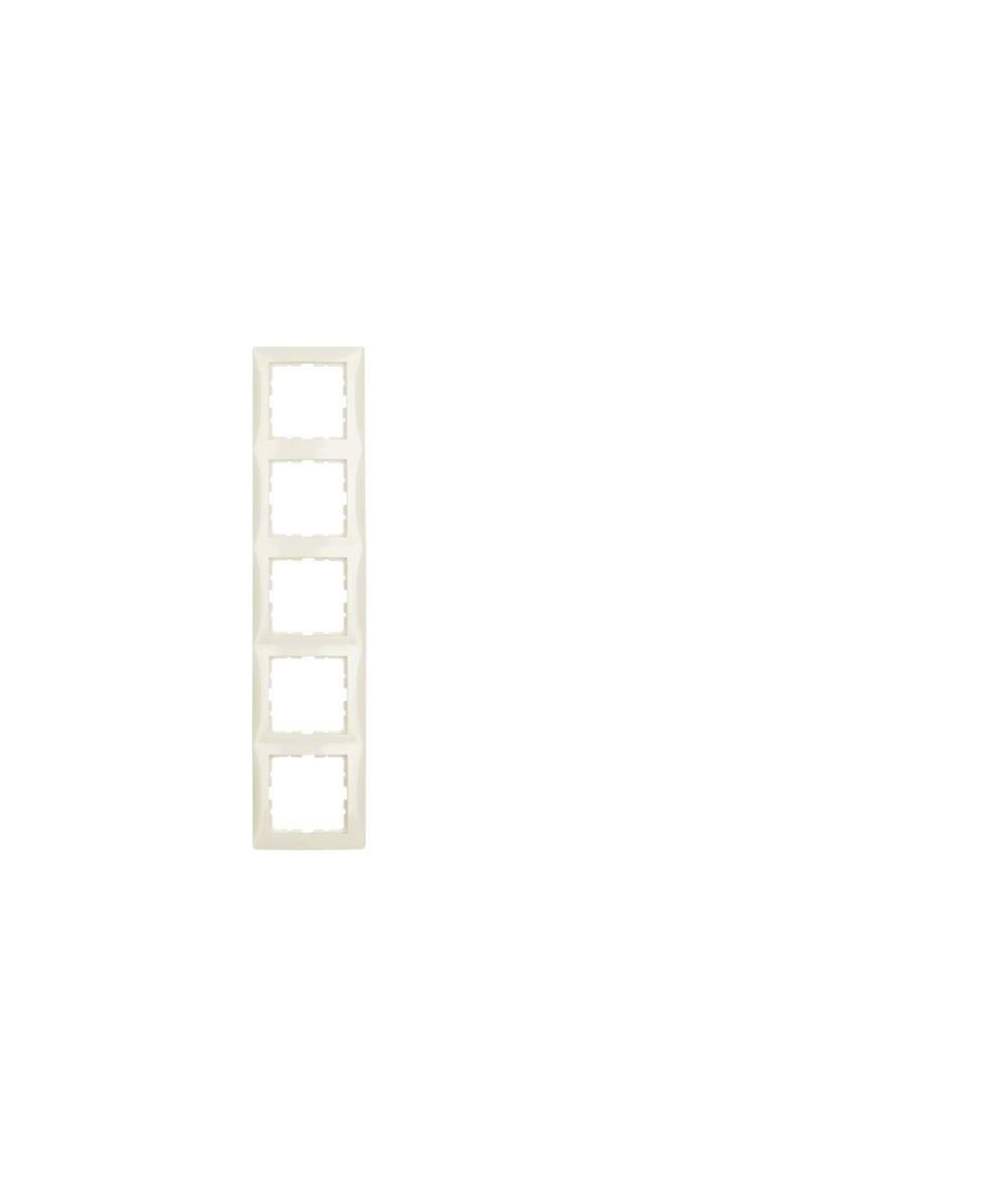 Ramka B.Kwadrat 5-krotna kremowy połysk 5310158982