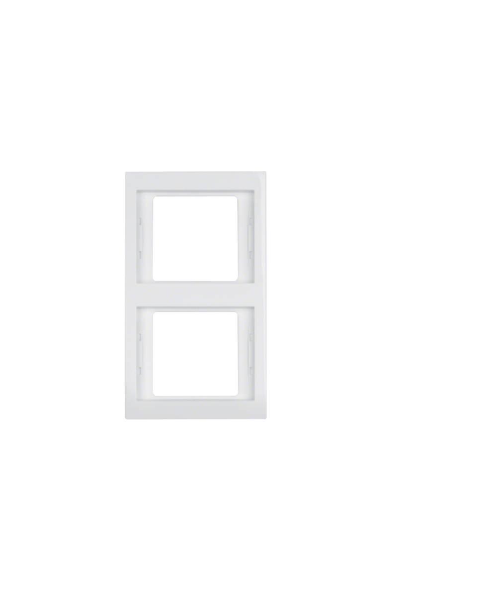 Ramka Berker K.1 2-krotna pionowa biała, połysk 13237009