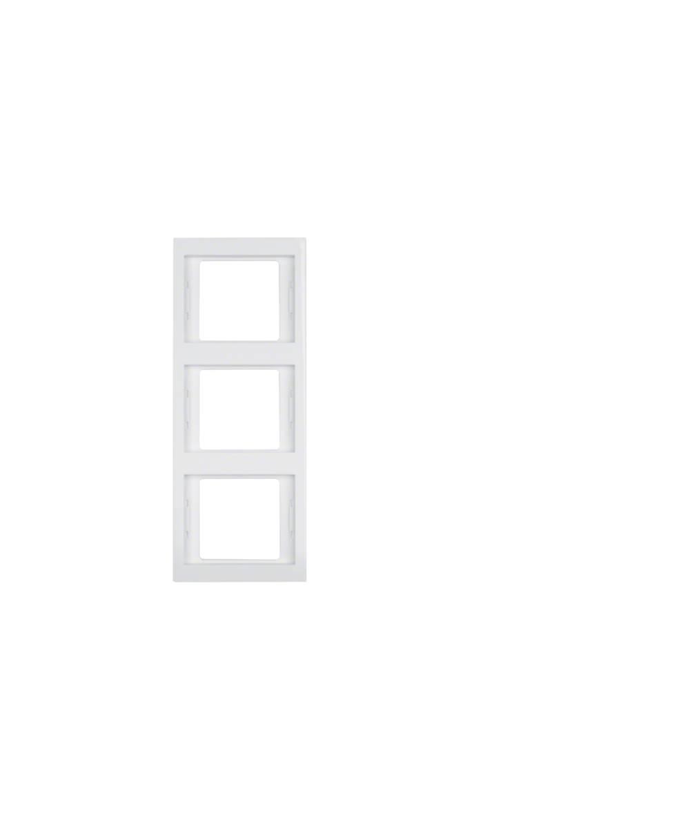 Ramka Berker K.1 3-krotna pionowa biała, połysk 13337009