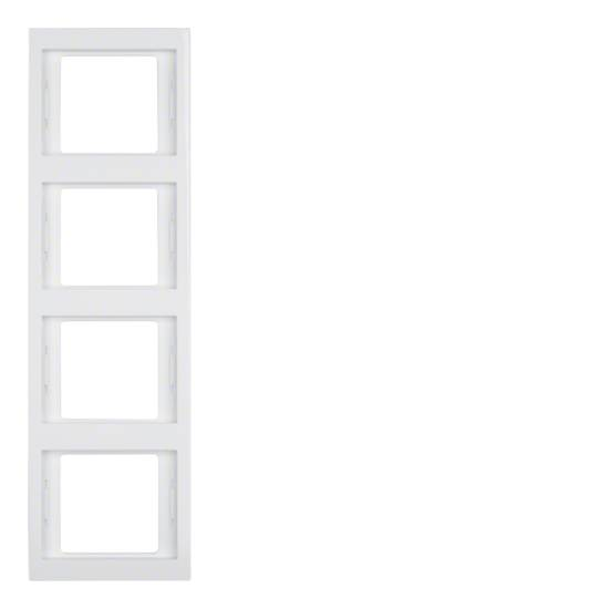 Ramka Berker K.1 4-krotna pionowa biała, połysk 13437009