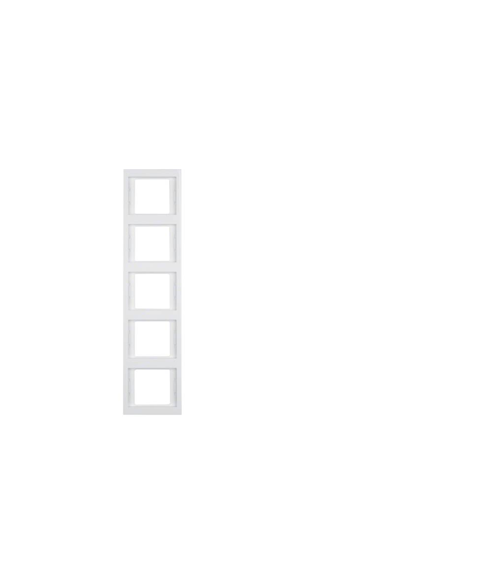 Ramka Berker K.1 5-krotna pionowa biała, połysk 13537009