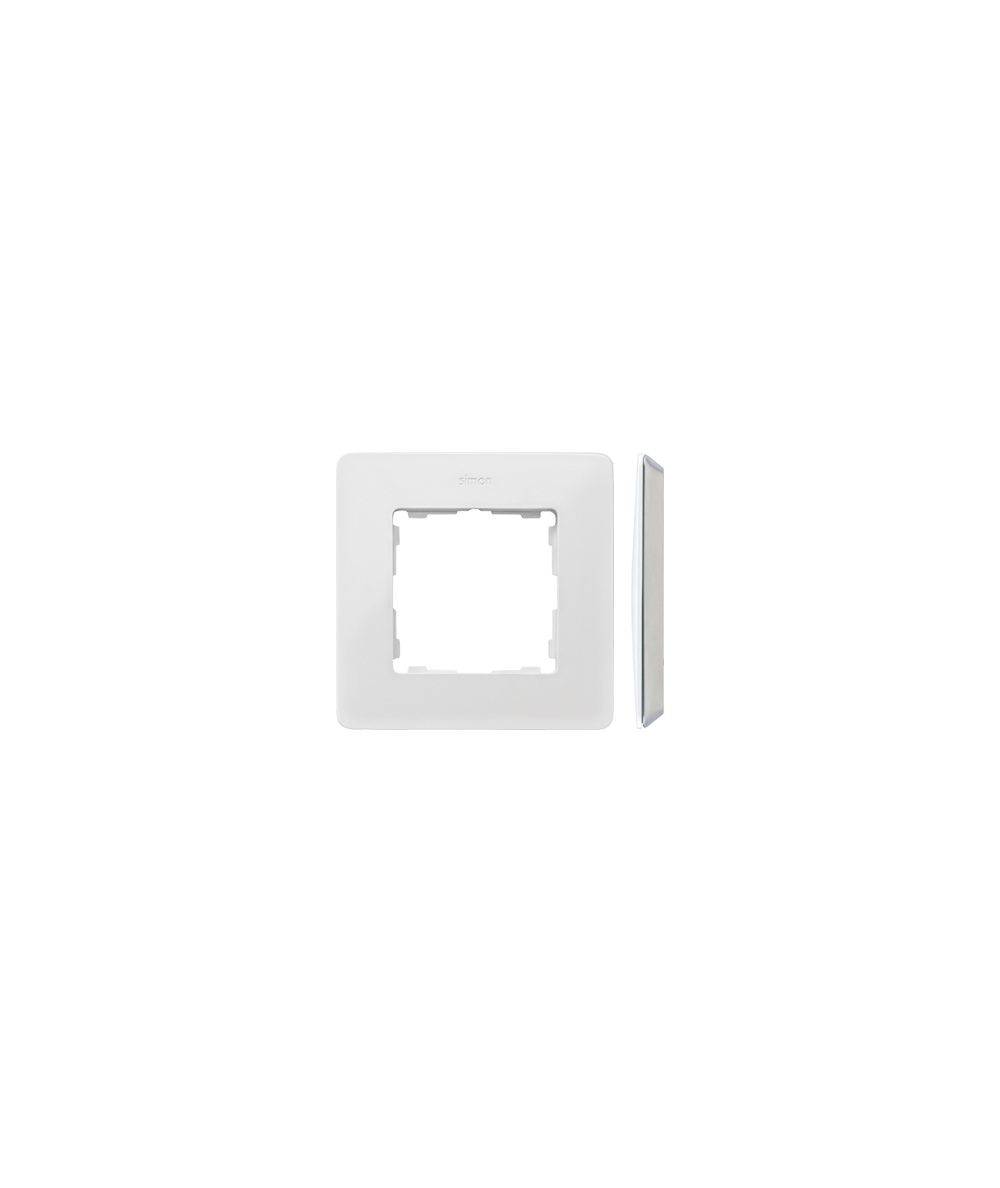 Simon 82 Detail ORIGINAL  Ramka 1- krotna biały Kol.podst.:szary  8200610-030