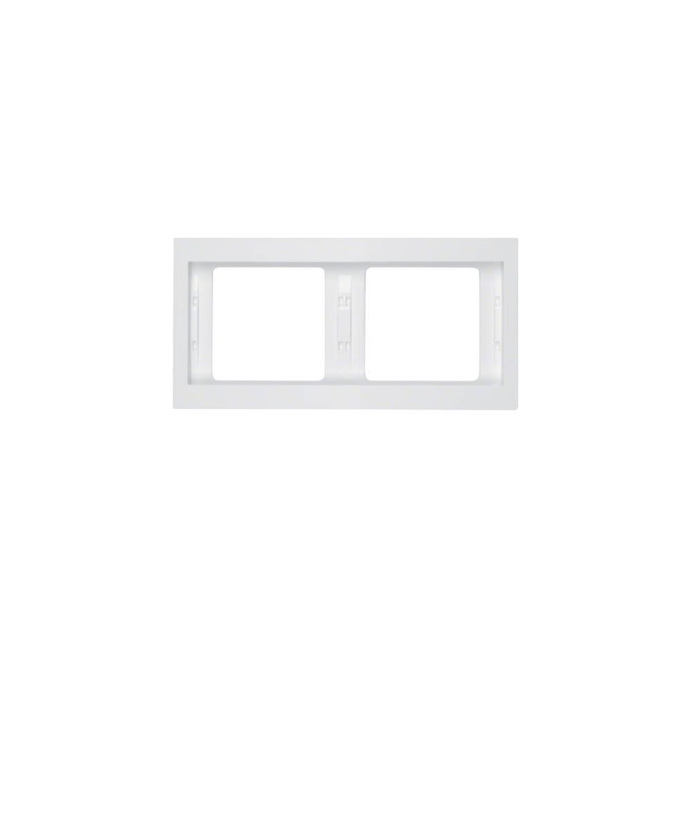 Ramka Berker K.1 2-krotna pozioma biała, połysk  13637009