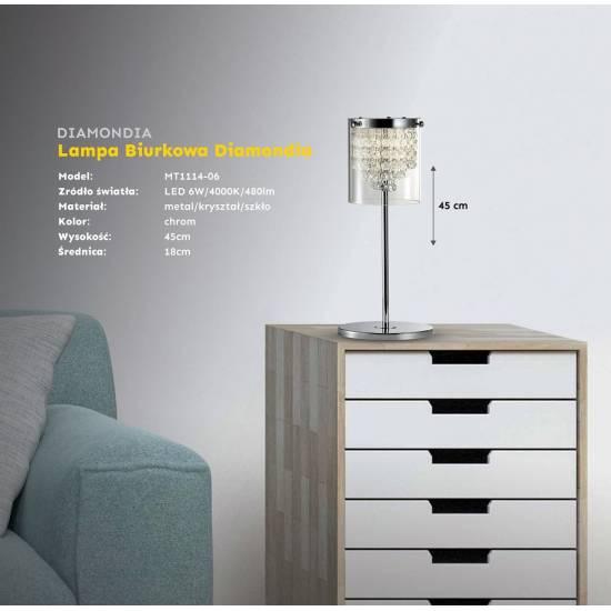 Lampa podłogowa DIAMONDIA LED Chrom