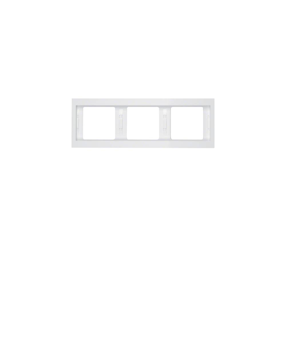 Ramka Berker K.1 3-krotna pozioma biała, połysk  13737009