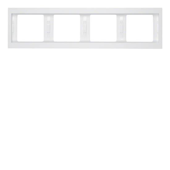 Ramka Berker K.1 4-krotna pozioma biała, połysk 13837009