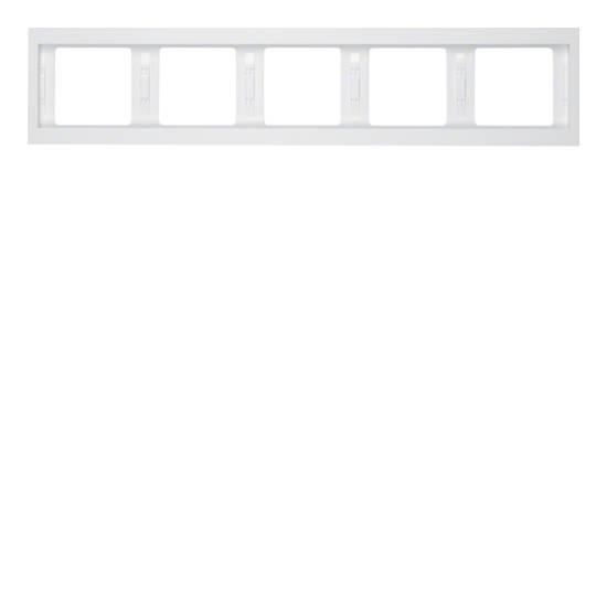 Ramka Berker K.1 5-krotna pozioma biała, połysk  13937009