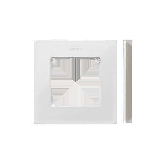 Simon 82 Detail ORIGINAL  Ramka 1- krotna biały ciepły Kol.podst.:szary ciepły  8200610-029