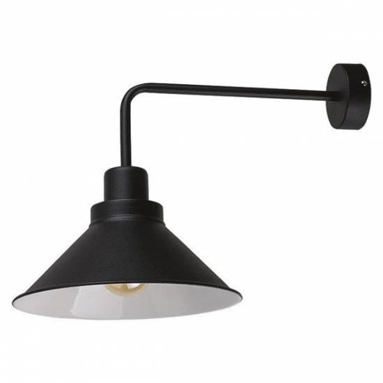 Nowodvorski - kinkiet loft retro CRAFT czarny / biały - 9151