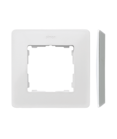 Simon 82 Detail ORIGINAL  Ramka 1- krotna aluminium biały  8200610-230