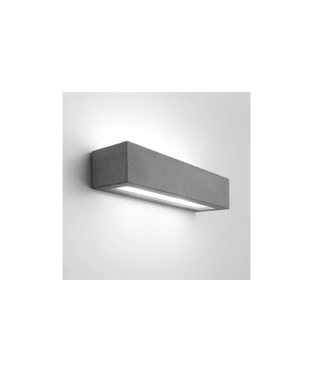 Nowodvorski - betonowy kinkiet SOLID prostokąt - 9721