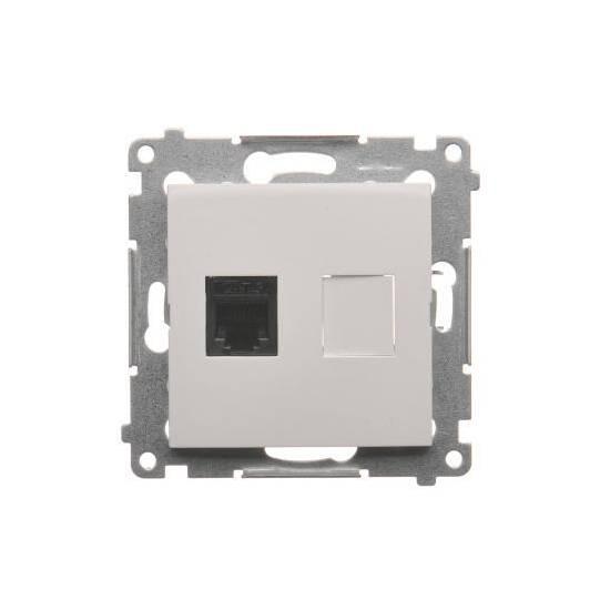 Simon 54 - Gniazdo telefoniczne pojedyncze RJ12 biały - DT1.01/11