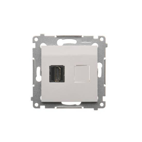 Simon54 - Gniazdo HDMI pojedyncze biały - DGHDMI.01/11