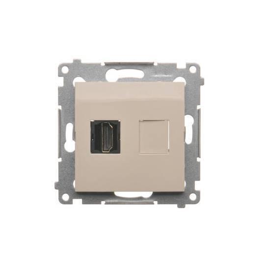 Simon54 - Gniazdo HDMI pojedyncze kremowy - DGHDMI.01/41