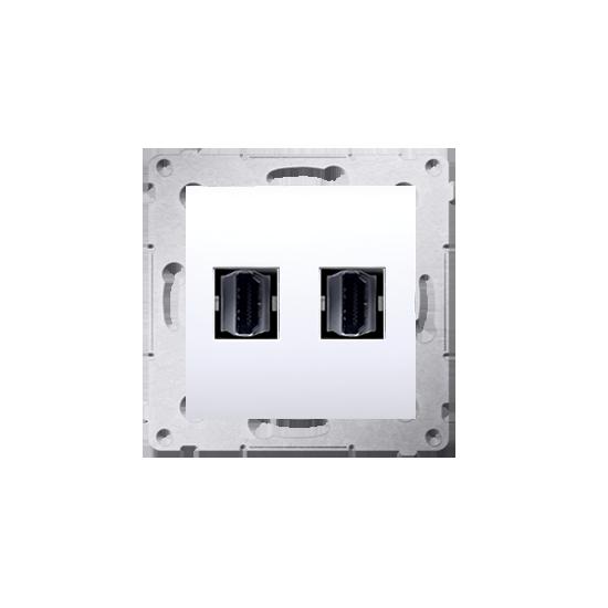 Simon54 - Gniazdo HDMI podwójne biały - DGHDMI2.01/11