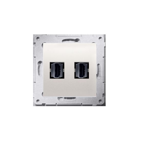 Simon54 - Gniazdo HDMI podwójne kremowy - DGHDMI2.01/41
