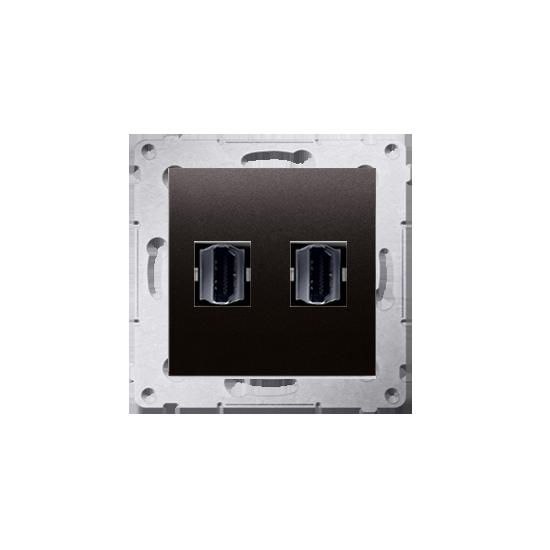 Simon54 - Gniazdo HDMI podwójne antracyt, metalizowany - DGHDMI2.01/48