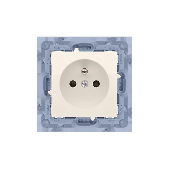 Simon10 - Gniazdo wtyczkowe pojedyncze z uziemieniem kremowy 16A - CGZ1.01/41