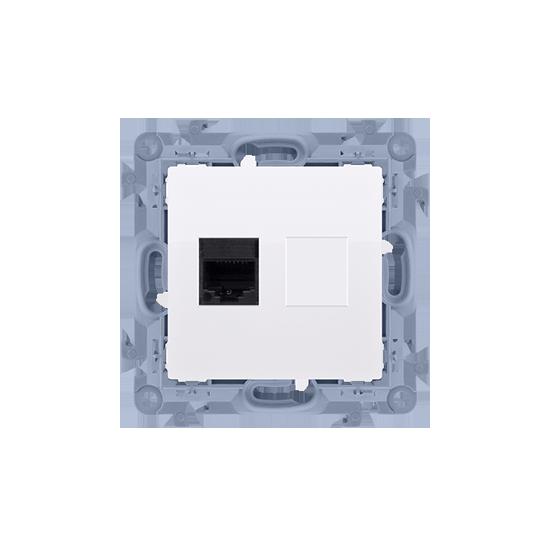 Simon10 - Gniazdo komputerowe pojedyncze RJ45 kategoria 6 biały - C61.01/11