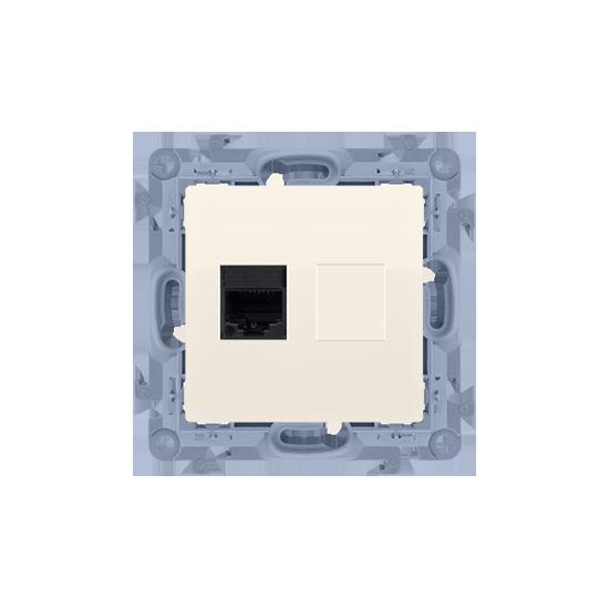 Simon10 - Gniazdo komputerowe pojedyncze RJ45 kategoria 6 kremowy - C61.01/41
