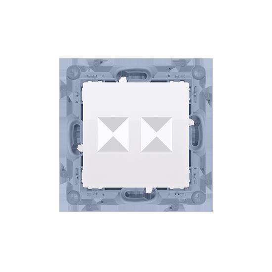 Simon10 - Pokrywa gniazd teleinformatycznych na Keystone płaska podwójna biały - CKP2.01/11
