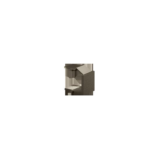 Simon - Zaślepka otworu wtyku RJ45/RJ12 pokrywy gniazda teleinformatycznego brąz mat, metalizowany - BWB/46