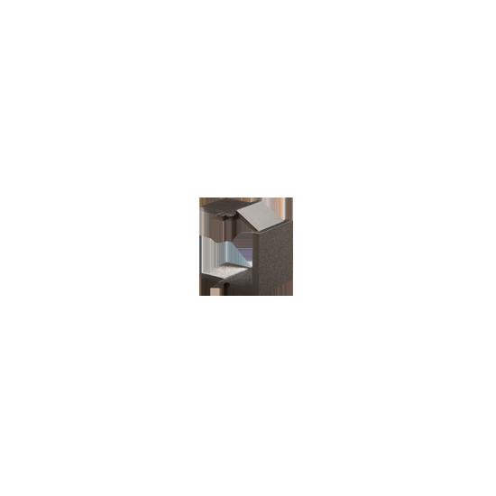 Simon - Zaślepka otworu wtyku RJ45/RJ12 pokrywy gniazda teleinformatycznego antracyt, metalizowany - BWB/48