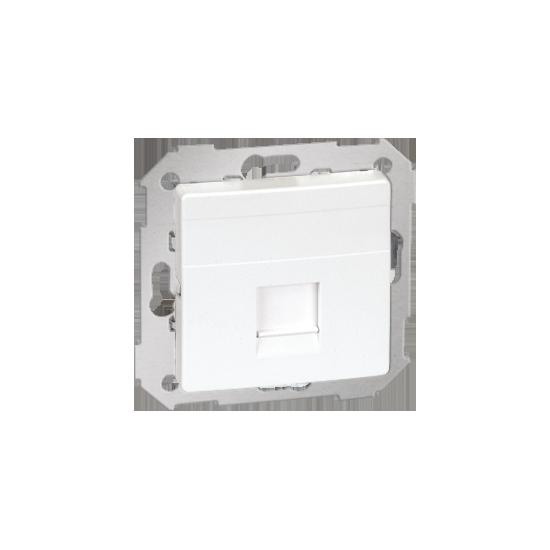 Simon82 - Pokrywa gniazd teleinformatycznych na Keystone płaska pojedyncza biały - 82005-30