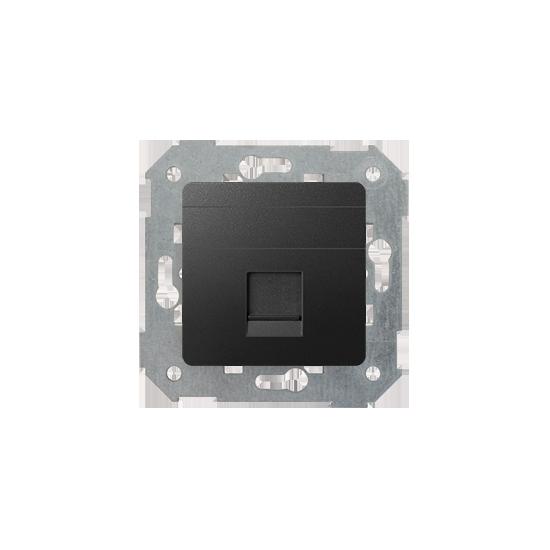 Simon82 - Pokrywa gniazd teleinformatycznych na Keystone płaska pojedyncza grafit - 82005-38