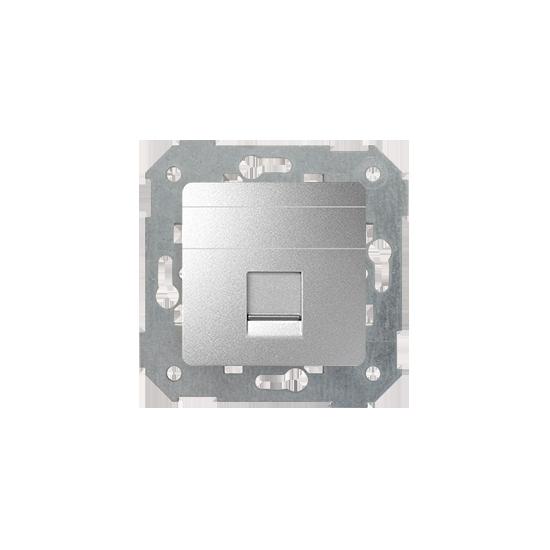 Simon82 - Pokrywa gniazd teleinformatycznych na Keystone płaska pojedyncza aluminium - 82005-93