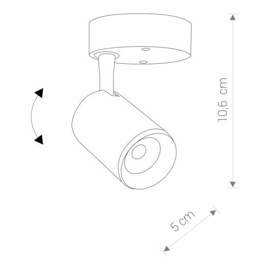 Nowodvorski - Lampa reflektor IRIS LED BLACK 7W czarny ciepły - 8994